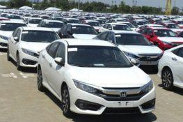 Automobile import of complete units decreased unexpectedly